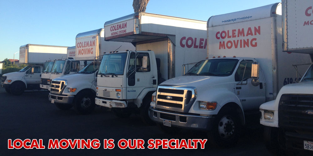 Local Moving in the San Diego Area is Our Specialty